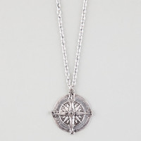 Full Tilt Compass Necklace Antique Silver One Size For Women 22879358201