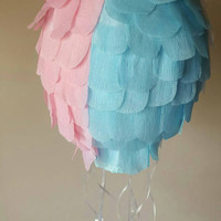 Hot air balloon pinata for gender reveal, baby shower or first birthday