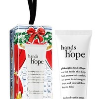 philosophy 'hands of hope' hand & cuticle cream ornament (Limited Edition)   Nordstrom