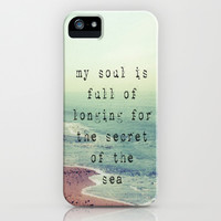 The Secret Of The Sea iPhone & iPod Case by Ally Coxon