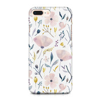 Beautiful Pastel Flowers Phone Case - Floral Pattern Phone Case - Summer Phone Case - Pink and Blue Phone Case - iPhone 8 - Galaxy S9