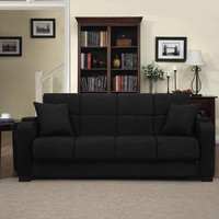 Microfiber Arm Convert-a-Couch and Sofa Bed
