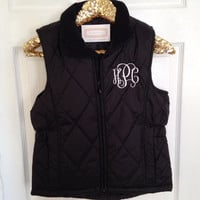 Monogrammed Women's Quilted Puffer Vest