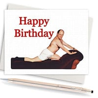 Seinfeld Card - George Costanza Birthday Card (Funny Birthday Cards. Happy Birthday Card. Birthday Greeting Card. Birthday Gift. Funny Card)