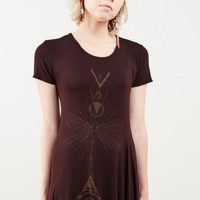 Dark Burgundy Dragonfly Dress