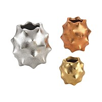 3138-209/S3 Spiky Metallic Vases