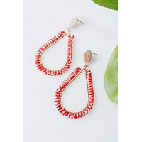 Baguette Trim Teardrop Earring