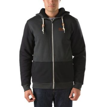 Vans Placer Zip Hoodie (New Charcoal/Black)