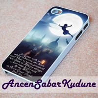 Peter Pan Quote on the Fly City Night - Phone case,iphone 4/4s,5/5s/5c/6/6+/Samsung S3/4/5/6/ ipod touch 4/5