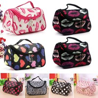 Large Ladies Travel Organizer Toiletry Cosmetic Make Up Holder Case Bags Pouch
