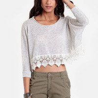 Rightly So Cropped Sweater - $32.00 : ThreadSence, Women's Indie & Bohemian Clothing, Dresses, & Accessories