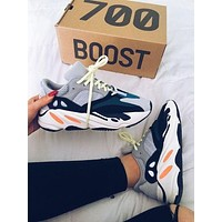 Adidas Yeezy Boost 700 Vintage Tide Brand Men and Women Running Sneakers Grey