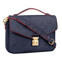 Louis Vuitton Monogram Empreinte Leather Pochette Metis Handbag Article: M44071 Made in France