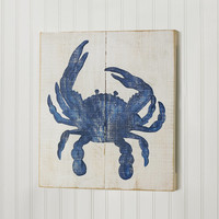 18x16 Crab Wood Wall Painting