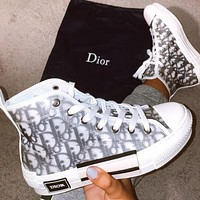 Dior CD Hot Selling Shoes Men's and Women's Leisure Sports High-Top Sneakers