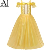 Fairy Tale Fantasy Princess Girl Dress Long Evening Prom Party Dresses For Teen Girls Kids Clothes