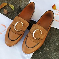 Chloe New Women Casual Leather Single Shoes Loafers