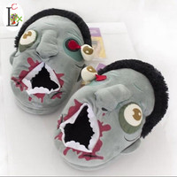 LCX Free Shipping 1Pair Plush Zombie Slippers / Ravenous Zombie Warm Slippers ctx11 Home Halloween funny shoes gift