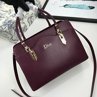 Christian Dior Women's Tote Bag Handbag Shopping Leather Tote Crossbody Satchel
