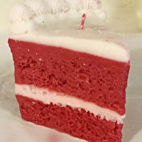 Peppermint Cake Candle - Peppermint Cake Scented Candle, Pillar Candle In Premium Scent
