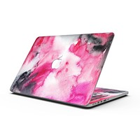 Pink and Black Absorbed Watercolor Texture - MacBook Pro with Retina Display Full-Coverage Skin Kit