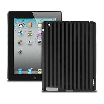 XtremeMac Tuffwrap Shine Case for iPad 2/3/4 (Black Stripe)