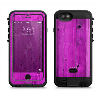 The Purple Highlighted Wooden Planks  iPhone 6/6s Plus LifeProof Fre POWER Case Skin Kit