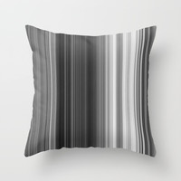 Black White Gray Thin Stripes Throw Pillow by Simply Chic