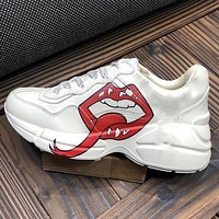 Onewel GUCCI Mouth long tongue Mickey Mouse Daddy shoes Disney joint sports increased black