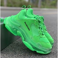 Green Balenciaga Triple-S Sneaker Casual Shoes Clunky Sneakers
