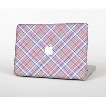 The Pink and Blue Layered Plaid Pattern V4 Skin Set for the Apple MacBook Air 11""
