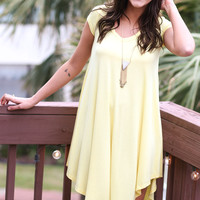 The Last Song Pastel Yellow Casual T-shirt Dress