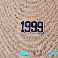 2016year New arrival 1PC number 1999 Iron On Embroidered Patch For Cloth Cartoon Badge Garment Appliques DIY Accessory