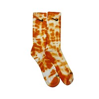 Nike Dri-Fit Tie Dye Orange White Socks