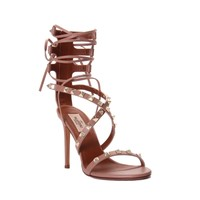 Valentino Rockstud Lace-Up Sandal - Shop Luxury Shoes | Editorialist