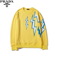 Parda popular Women's Men's  Casual Long Sleeve Sweater Pullover Sweatshirt