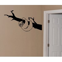 Sloth wall decal
