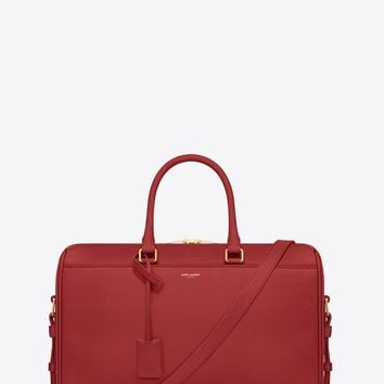 Saint Laurent Classic Duffle 12 Bag In Red Leather | ysl.com