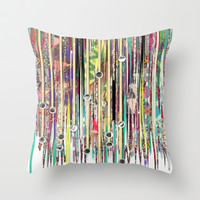 Fringe Benefits Throw Pillow by Lynsey Ledray
