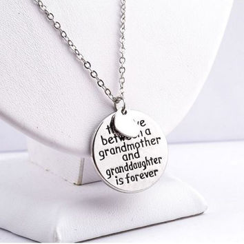 FAMILY PENDANT NECKLACE JEWELRY FOREVER LOVE BETWEEN GRANDMOTHER GRANDDAUGHTER - Just Pay Shipping