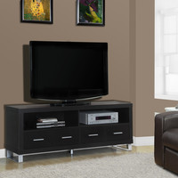 """Cappuccino Hollow-Core 60""""L TV Console with 4 Drawers"""