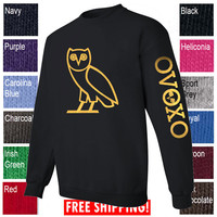 Owl Crewneck OVO Drake October's very own sweatshirt  owl sweater shirt