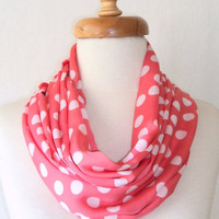 ON SALE, Silk Satin Scarf ,Loop Scarf ,Spring Scarf ,İnfinity Scarf, Dotto Scarf, Gift, Pink Scarf