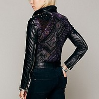 Muubaa  Aztec Leather Motorcycle Jacket at Free People Clothing Boutique