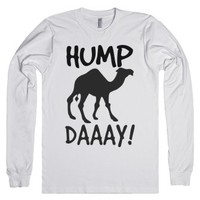 Hump Day long sleeve tee t shirt-Unisex White T-Shirt