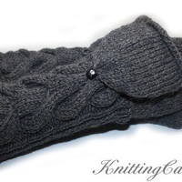 Twilight Bellas Long Convertible Woman's Mittens -  READY TO SHIP