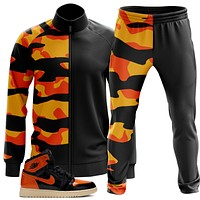 Orange Black Camo Tracksuit