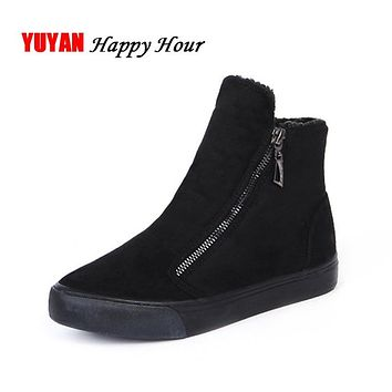 2020 Winter Snow Boots Women Winter Shoes Zip Warm Plush for Cold Winter Fashion Women's Boots Sweet Ladies Brand Ankle Botas