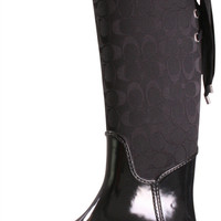 Coach Tristee A7431 Women's Lined Rain Riding Boots Signature