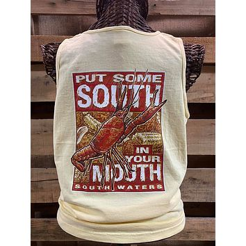 South Waters South in Your Mouth Crawfish Comfort Colors Unisex T Shirt Tank Top